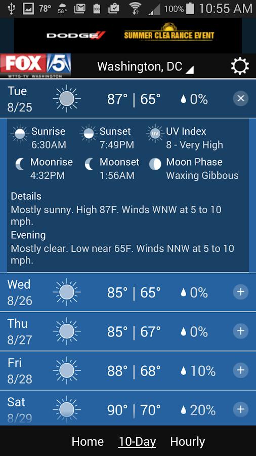 FOX 5 Weather- screenshot