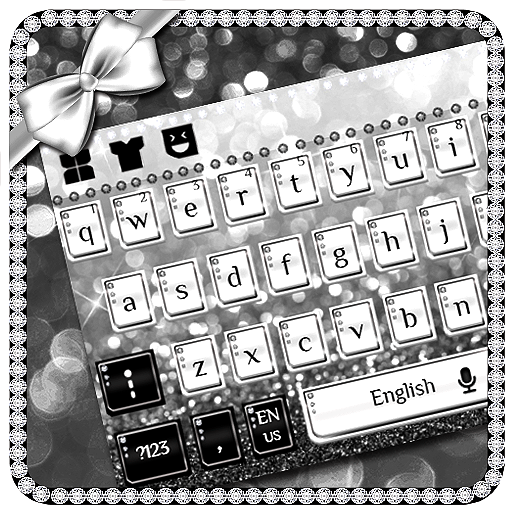 Silver Diamond Bow Keyboard