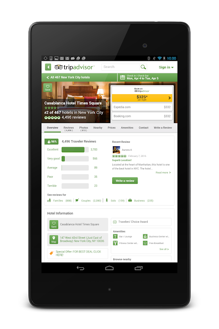 #19. TripAdvisor Hotels Restaurants (Android)