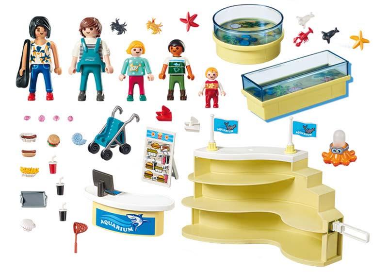 Contenido real de Playmobil® 9061 Tienda del Acuario