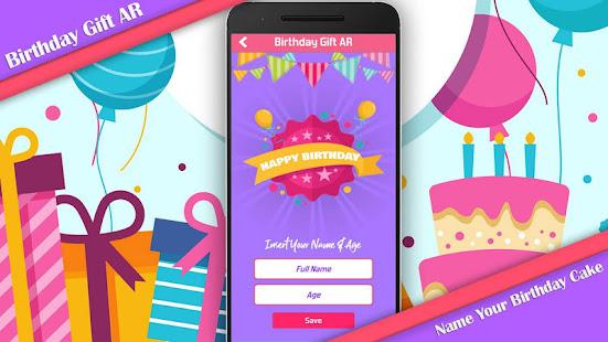 Birthday Gift AR App Poster