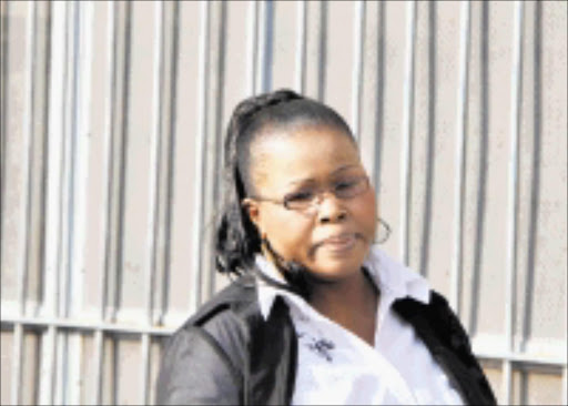 WITNESS: Paulina Mashilela outside court yesterday after testifying against Judge Nkola Motata, inset. Pic. Vathiswa Ruselo. 15/09/2008. © Sowetan.