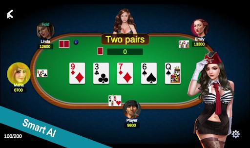 Poker Offline Free 2020 - Texas Holdem With Girl  screenshots 3