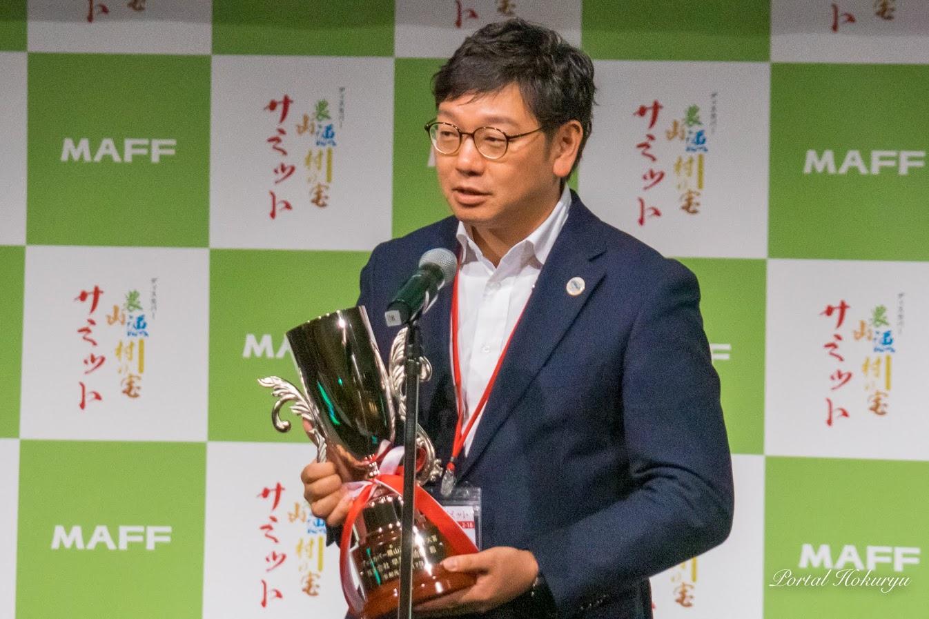 (株)早和果樹園・秋竹俊伸 代表取締役社長