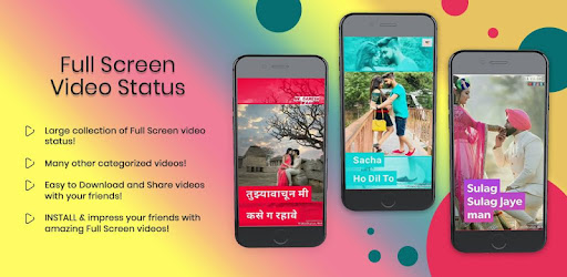 Awesome Full Screen video status for Whatsapp, Facebook and Instagram!