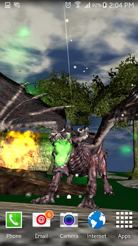 android Legendary Dragons 3d Lwp Lite Screenshot 5