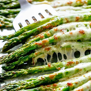 Cheesy Garlic Roasted Asparagus.