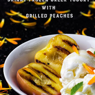 Skinny Frozen Greek Yogurt with Grilled Peach