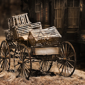 Old Cart with Lobster Traps by Peter Christoph - Artistic Objects Other Objects