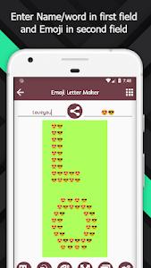 Emoji letter maker - Text to emoji converter 1 4 + (AdFree
