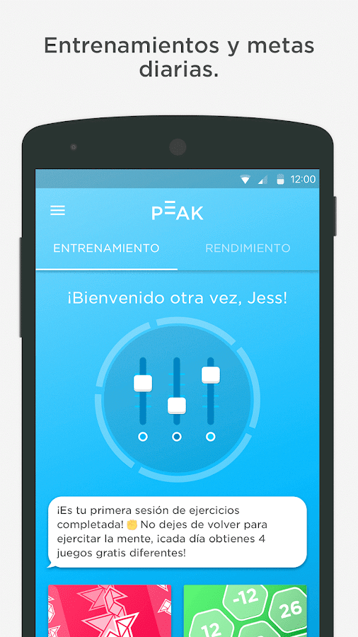 Peak - Brain Games: captura de pantalla