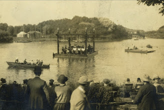 Photo: Peasholm Park bandstand pre Pagoda on the island.