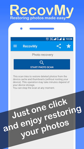 Restore Deleted Photos - RecovMy screenshot 1