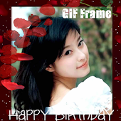 B-day GIF Frame wth Beauty Cam
