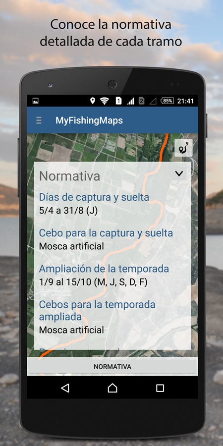 My Fishing Maps. Mapas y guía de pesca en España- screenshot