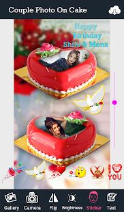 Couple Photo On Cake - náhled