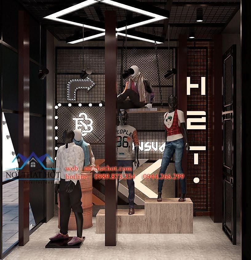 thiết kế shop thời trang nam h2t xuân thủy 4
