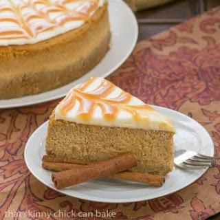 Caramel Topped Pumpkin Cheesecake #ProgressiveEats