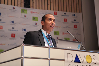 """Photo: Majdi Al Ayed presenting - """"Latest Trends for Comms Consultancies"""" Panel - 2012"""