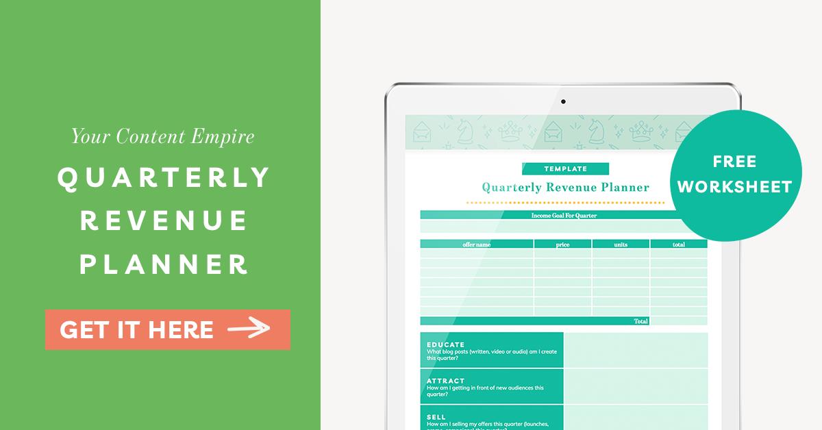 Freebie | Quarterly Revenue Planner