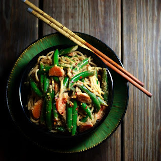 Spicy Green Beans in Peanut Sauce.