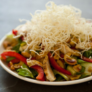 Asian Style Cashew Chicken Salad with Sesame Soy Vinaigrette