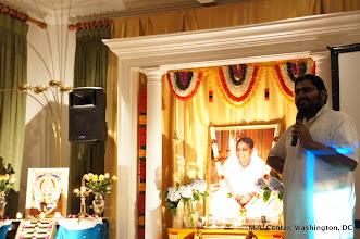 Photo: Br.Ramanand sharing the story of Ayyappa
