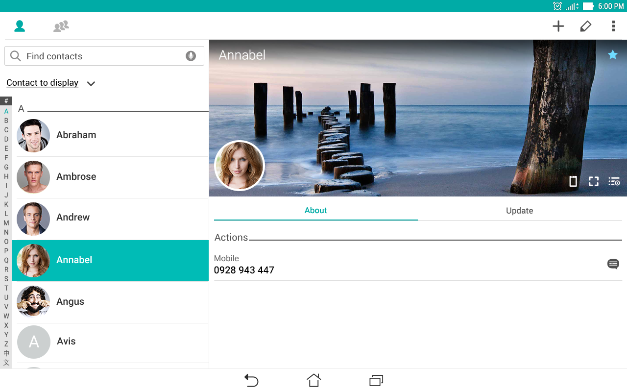 ZenUI Dialer & Contacts- screenshot