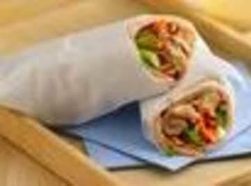Slow Cooker Teriyaki-Sesame-Chicken Wraps