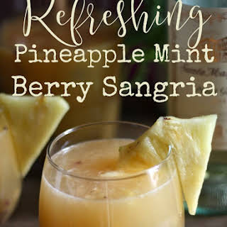Pineapple Mint Berry Sangria.