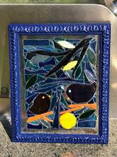 Photo: Framed Glass Mosaic Birds by Grand Girls Glass www.facebook.com/grandgirlsglass