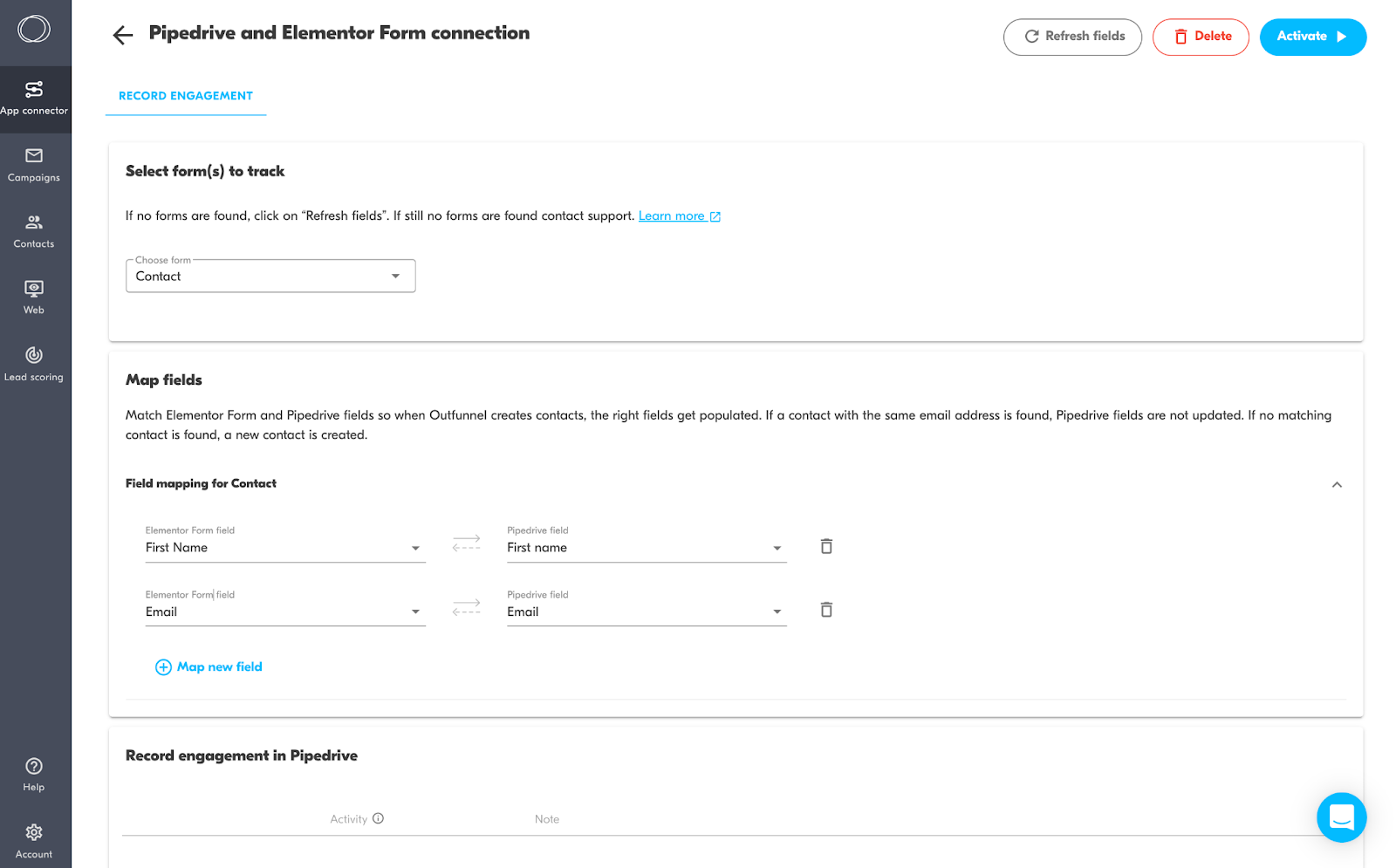 Pipedrive and Elementor Forms connection