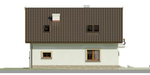 Dom przy Alabastrowej 34 - Elewacja tylna