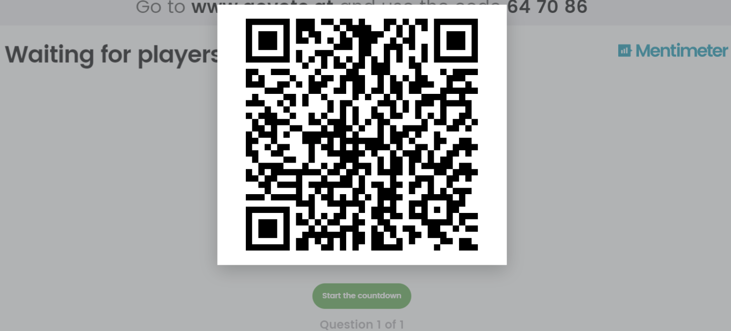 Mentimeter QR code. But is there a better way to join a presentation?
