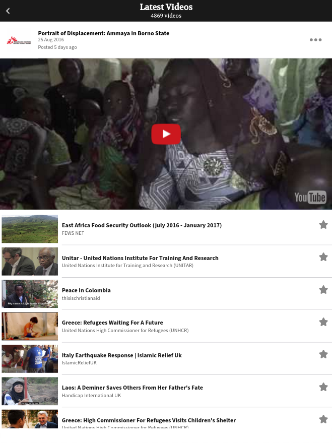 ReliefWeb Videos- screenshot
