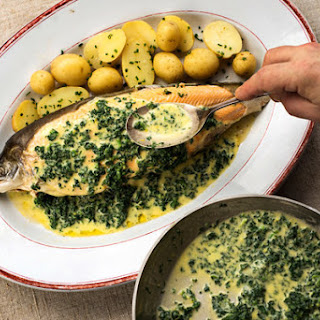 Arctic Char with Spinach Butter