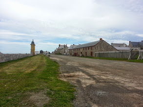 Photo: Main street at Louisbourg Fortress.