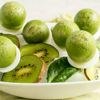 Spinach Kiwi Popsicles.