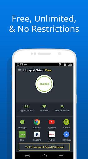 免费 VPN – Hotspot Shield 基本版