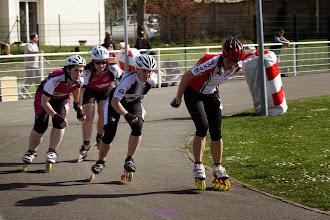 Photo: MG & Perrine - course 1000m des Vétérantes