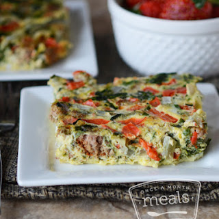Slow Cooker Breakfast Frittata.