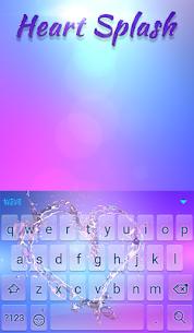 Heart Splash Animated Keyboard + Live Wallpaper 3.33 APK + MOD (Unlocked) 2