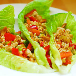 Low Sodium Asian Style Lettuce Wraps with Chicken.