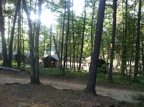 Photo: View from staff building to Midget Camp.