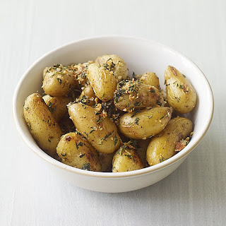 Roasted Fingerling Potatoes with Herbs and Garlic.