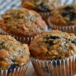 """sugar"" Free Banana Blueberry Muffins."