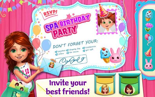 Spa Birthday Party Screenshot