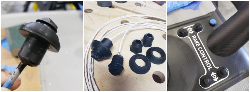 Ken's sailboat button project - parts 3D printed in ASA filament.