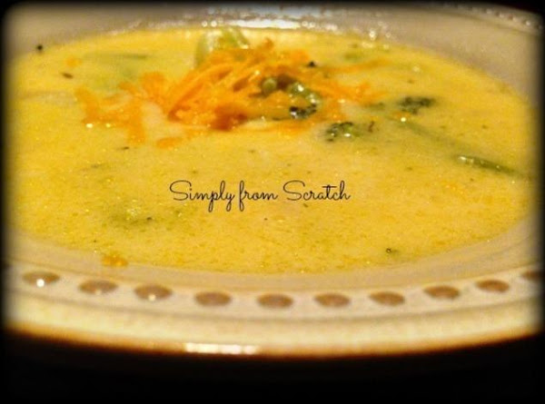 Homemade Broccoli And Cheese Soup Recipe