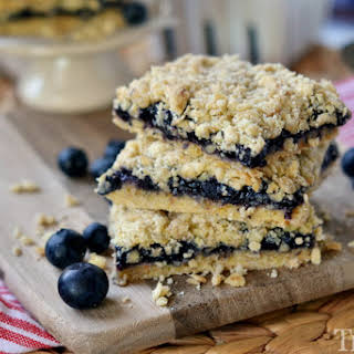 Blueberry Pie Oatmeal Crumble Bars.